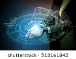 robot and industrial technology ... | Shutterstock . vector #513161842