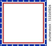 american flag patriotic border...   Shutterstock .eps vector #513165826