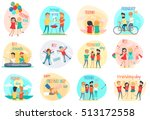 friendship. best friend forever.... | Shutterstock .eps vector #513172558
