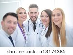 cheerful team of doctors and...   Shutterstock . vector #513174385