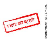 facts and myths red rubber...   Shutterstock .eps vector #513174826