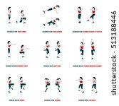 fitness  aerobic and workout... | Shutterstock .eps vector #513188446