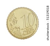 ten cent euro coin | Shutterstock . vector #51319018
