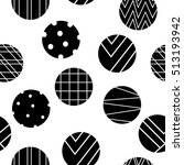 abstract black and white pattern   Shutterstock .eps vector #513193942