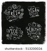 labels eco style decorated by... | Shutterstock .eps vector #513200026