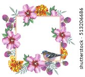 Wildflower Hibiscus Frame In A...
