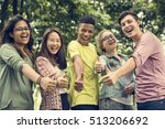 diverse group young people... | Shutterstock . vector #513206692