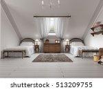luxury children's room with two ... | Shutterstock . vector #513209755