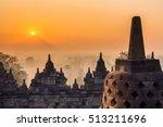 Borobudur Temple At Twilight...