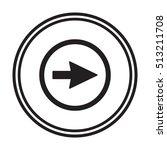 arrow icon vector. flat design. | Shutterstock .eps vector #513211708