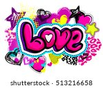 abstract drawing t shirts for... | Shutterstock .eps vector #513216658