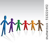 brotherhood and unity colorful... | Shutterstock .eps vector #513221452