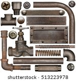 dark and rusty industrial... | Shutterstock . vector #513223978