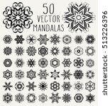 set of ornate lacy doodle...   Shutterstock .eps vector #513226396