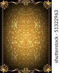 framework with a vegetative... | Shutterstock .eps vector #51322963