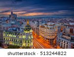 madrid. cityscape image of... | Shutterstock . vector #513244822