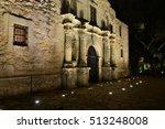 The Alamo At Night At Around...
