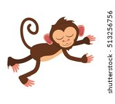 isolated monkey cartoon design | Shutterstock .eps vector #513256756