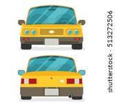 car front and rear. vector flat ... | Shutterstock .eps vector #513272506