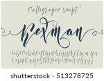 elegant calligraphic script... | Shutterstock .eps vector #513278725