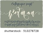 elegant calligraphic script...   Shutterstock .eps vector #513278728
