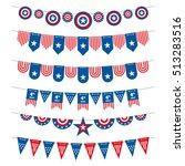 patriotic bunting american... | Shutterstock . vector #513283516