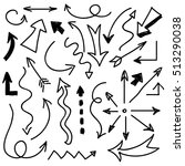 hand drawn arrows . set of... | Shutterstock . vector #513290038
