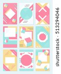 elegant modern flyers and cards ... | Shutterstock . vector #513294046