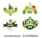organic farming products labels ... | Shutterstock . vector #513298066