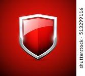 vector red shield | Shutterstock .eps vector #513299116