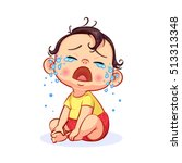 Cartoon Sitting And Crying...