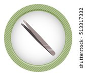 metallic tweezers icon in... | Shutterstock .eps vector #513317332