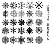 vector set of snowflakes | Shutterstock .eps vector #513323098