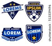 football logo badge isolated in ... | Shutterstock .eps vector #513339496