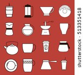 coffee delicious drink icon... | Shutterstock .eps vector #513351418