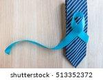 blue ribbon symbolic for... | Shutterstock . vector #513352372