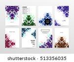 annual report brochure template ... | Shutterstock .eps vector #513356035