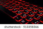 close up. red backlight ... | Shutterstock . vector #513358366