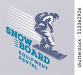 snowboarding emblem | Shutterstock .eps vector #513362926