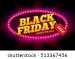 black friday sale frame design... | Shutterstock .eps vector #513367456
