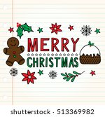 christmas card with ginger man... | Shutterstock .eps vector #513369982