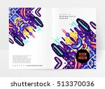 annual report brochure template ... | Shutterstock .eps vector #513370036