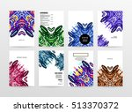 annual report brochure template ... | Shutterstock .eps vector #513370372