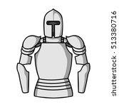 Plate Armor Icon In Monochrome...