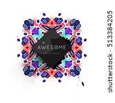 trendy geometric flat pattern ... | Shutterstock .eps vector #513384205