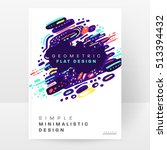 annual report brochure template ... | Shutterstock .eps vector #513394432