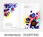 annual report brochure template ... | Shutterstock .eps vector #513397342