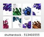 annual report brochure template ... | Shutterstock .eps vector #513403555