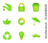 conservation icons set. cartoon ... | Shutterstock .eps vector #513408028