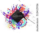 trendy geometric flat pattern ... | Shutterstock .eps vector #513415936